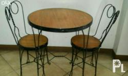 Heavy Duty Wooden Dining Set in very good condition. 1
