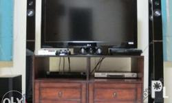 Entertainment Cabinet with Wheels Cabinet does not come