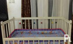 Its a foldable wooden baby crib. 3-inch Mandaue Foam,
