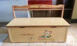 Wooden Kid�s bench / toy storage chest Noda Original