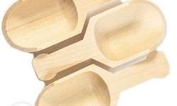 """Mini wooden scoop 3"""" long x 11/4"""" Wide Great for candy,"""