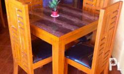 Wooden chairs and tables(w/ foam) pure Molave material