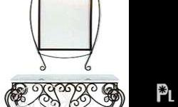 Wrought Iron consoles,is made of solid black steel and
