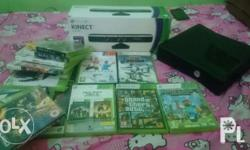 Xbox 360 250 gb slightly used With kinect With
