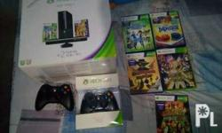 Unit, 2 wireless controller,5games, kinect, cords nd