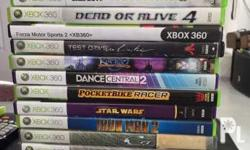 Xbox 360 games, price depends on games