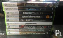 For Sale 9 pcs. Of xbox 360 games -All from US Games
