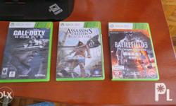 3 xbox 360 games for 1500 php (Negotiable). Good