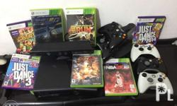 XBOX 360 Console in GOOD CONDITION w/ Kinect + 5