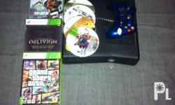Xbox 360 console with wireless controller and 7 cd