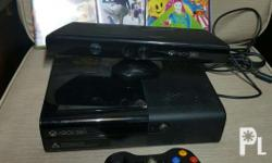 For sale slightly used xbox 360 w/ kinect. W/ 4 games.