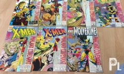 7 pcs of marvel comics - phalanx covenant. paper of