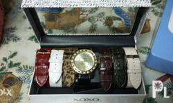 original xoxo watch with interchangeable straps. comes