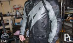 xpert all leather racing jacket pre owned, like new,