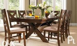 Solid yakal dining set, 6seater 28k, if with