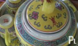 flawless yellow chinese tea cups and cups.
