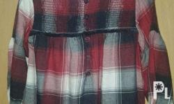 used once only size 12/18mos black red plaid 400 white