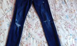 Zara Tattered Skinny Jeans Size 28 Stretch Very good