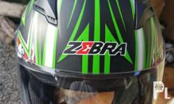 Zebra full face helmet Used only twice with BPS sticker